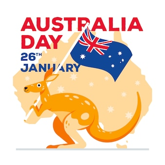 Journée plate de l'australie