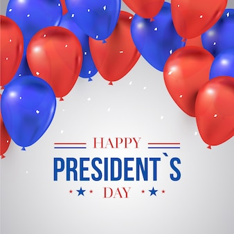 Journée des présidents avec des ballons