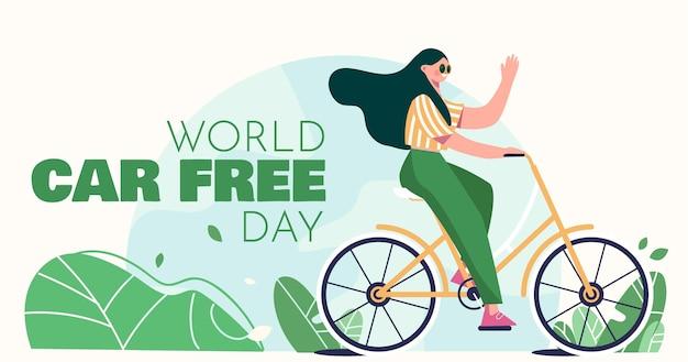 Journée sans voiture dans le monde plat