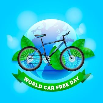 Journée sans voiture du monde réaliste