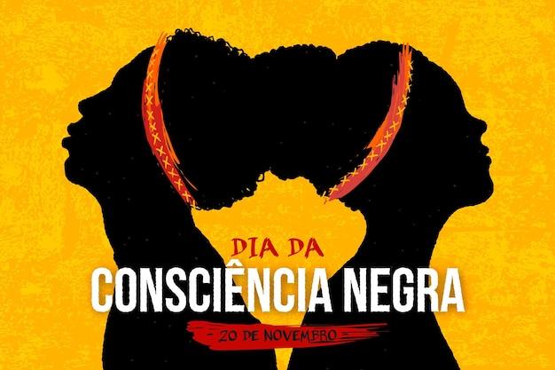 Journée de sensibilisation noire dessinée à la main