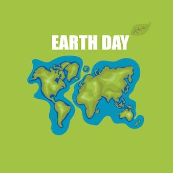 Journée de la terre carte du monde