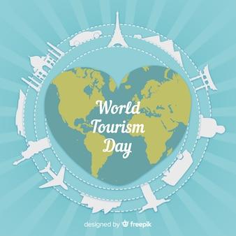 Journée de tourisme avec monde et monuments