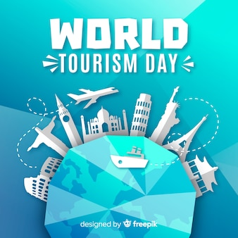 Journée de tourisme avec des monuments autour de la terre
