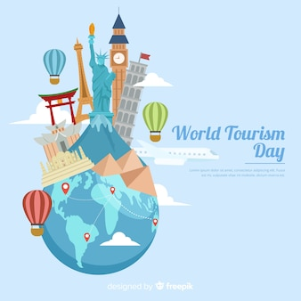 Journée de tourisme avec points de repère et transport)