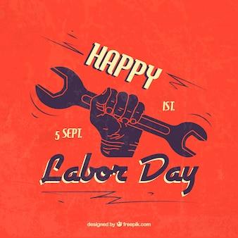 Journée de travail heureux avec la main tenant une clé