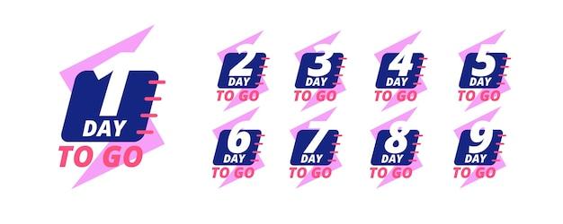 Jours pour passer des badges