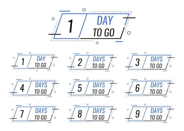 Jours restants pour passer de 1 à 10 balises