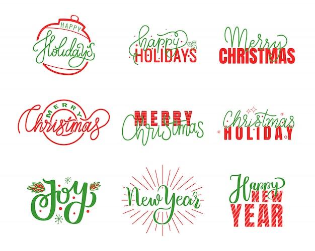Joy et joyeuses fêtes, lettrage joyeux noël