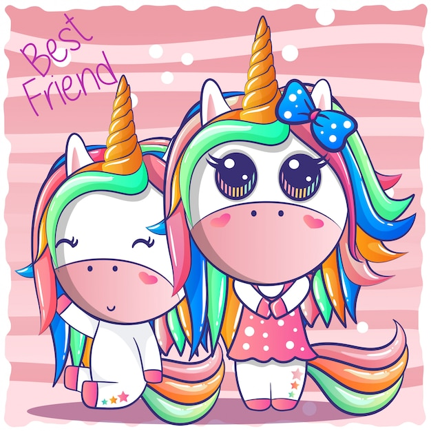 Une joyeuse amitié licorne