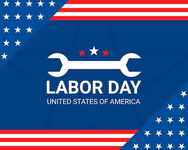 Joyeuse fête du travail des états-unis
