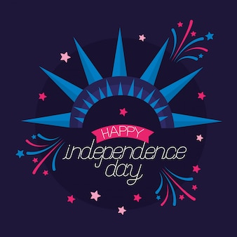 Joyeuse Fête De L'indépendance Américaine Vecteur gratuit