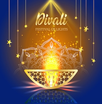 Joyeuse fête des lumières de diwali