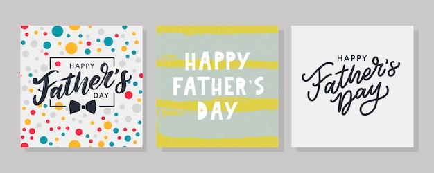 Joyeuse fête des pères. caractères. bannière