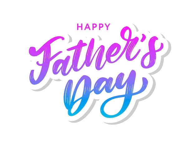 Joyeuse fête des pères. caractères.
