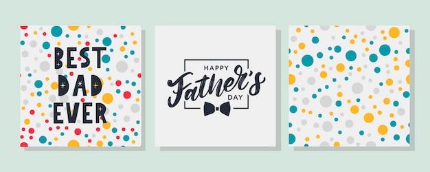 Joyeuse fête des pères. meilleur papa jamais mis