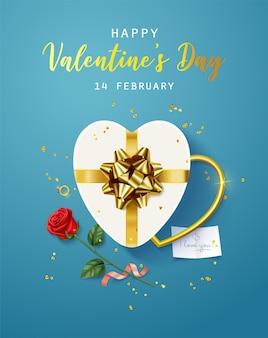 Joyeuse saint valentin. bannière, flyer, affiche, carte de voeux