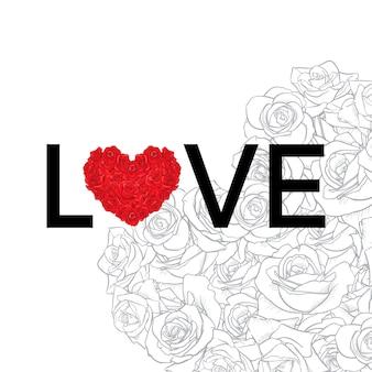 Joyeuse saint valentin et désherbage des éléments de conception