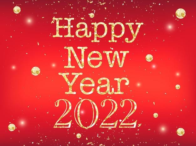 Joyeuses fêtes et une nouvelle année prospère! fond de vecteur au format eps10 avec bokeh réaliste et paillettes d'or.