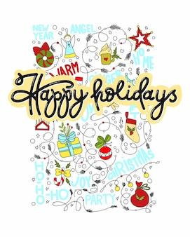 Joyeuses fêtes pour le nouvel an et Noël.