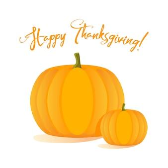 Joyeuses fêtes de thanksgiving avec des citrouilles. vecteur