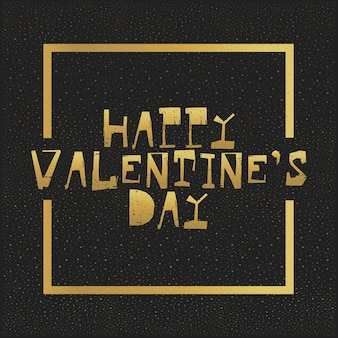 Joyeuses lettres d'or de la saint-valentin. illustration vectorielle de carte greating.