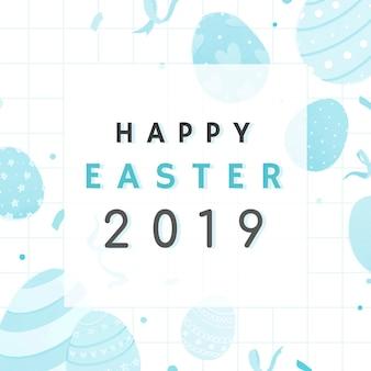 Joyeuses pâques 2019 conception de cartes