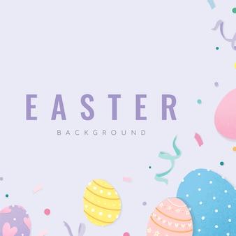 Joyeuses pâques 2019 vecteur de fond