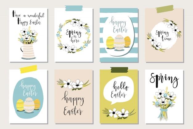 Joyeuses pâques cartes de voeux.
