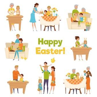 Joyeuses pâques en famille