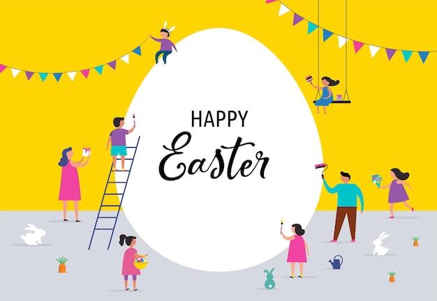 Joyeuses pâques avec les familles