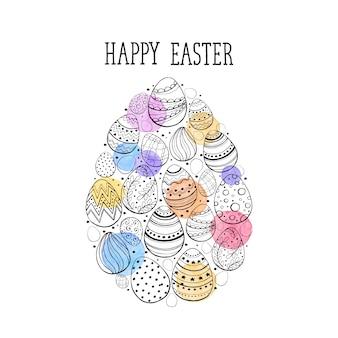 Joyeuses pâques illustration