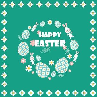 Joyeuses pâques. style plat et dessin animé. illustration vectorielle. élément de design