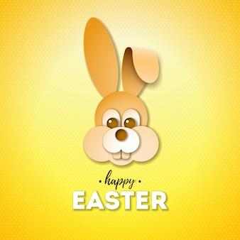 Joyeuses pâques en vacances avec joli visage de lapin