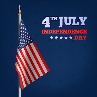 Joyeux 4 juillet, fête de l'indépendance des états-unis