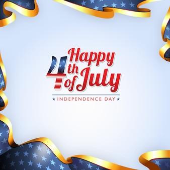 Joyeux 4ème juillet design de modèle de la fête de l'indépendance américaine