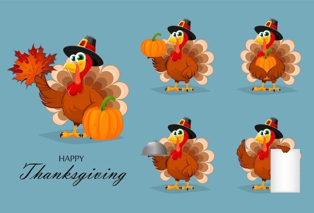 Joyeux action de graces. dinde de thanksgiving