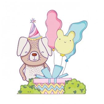 Joyeux anniversaire animal mignon