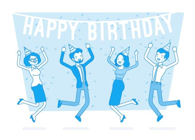 Joyeux anniversaire au bureau