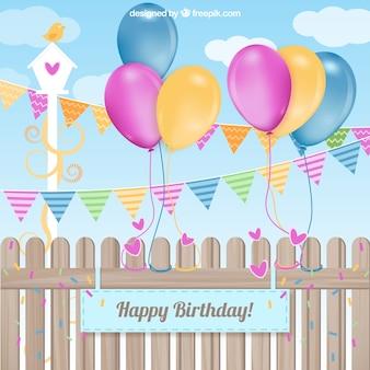 Joyeux anniversaire carte du parti