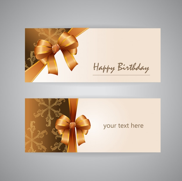 Joyeux anniversaire carte d'or