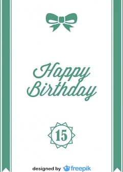Joyeux anniversaire carte postale d'arc de ruban de style vintage