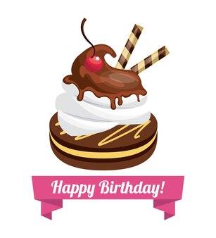 Joyeux anniversaire dessert sucré célébration