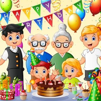 Joyeux anniversaire de famille