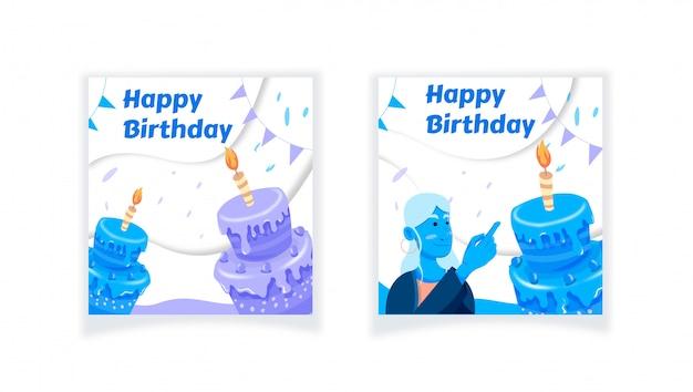 Joyeux anniversaire, fête de bougie de gâteau,