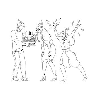 Joyeux anniversaire fête célébrant les gens