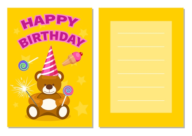 Joyeux anniversaire jeu de carte postale pour enfants