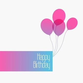 Joyeux anniversaire mignon fond de voeux minime