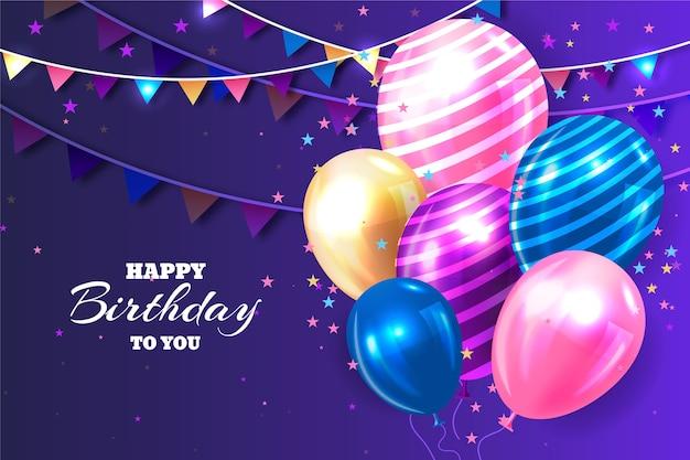 Joyeux anniversaire réaliste à votre arrière-plan