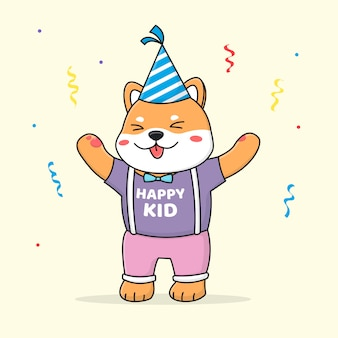 Joyeux anniversaire shiba inu